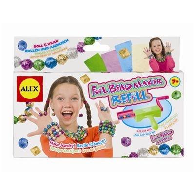 Dimensions: 8 X1.5 X 5.75 - Alex Toys Foil Bead Maker Refill