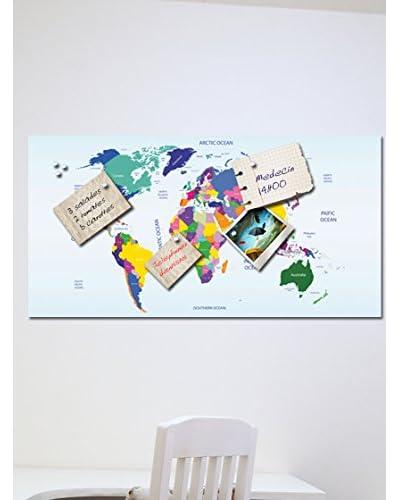Ambiance Live Vinilo Decorativo Magnetic Map 2 Multicolor