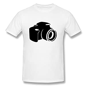 New Design Digital Camera T-shirt Guy US Size S White