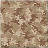 York Wallcoverings BT2981 Camouflage Design Wallpaper, Sage Green/Coco Brown/Light Beige