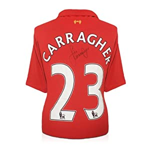 Jamie Carragher Signed Liverpool Soccer Jersey by exclusivememorabilia.com