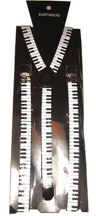 Noir (braces_piano) à imprimé clavier unisexes bretelles