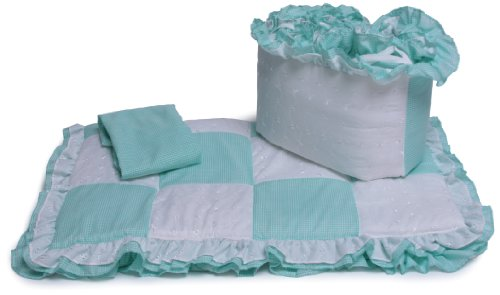 Baby Doll Bedding Port-A-Crib Bedding Set, Mint front-809688