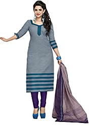 SP Marketplex Women's Cotton Unstitched Dress Materials (Spmsg323, Purple)