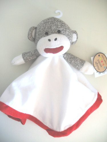 Original Sock Monkey Security Blanket Snuggle Buddy Lovey - 1