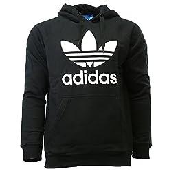 adidas Originals Men\'s 3Foil Hoodie, Large, Black