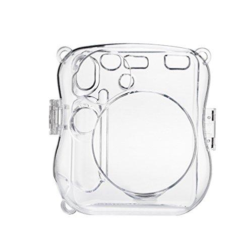 HelloHelio Hard Plastic Cover Transparent Crystal Instant Camera Case for Fujifilm Instax Mini SeriesWith Strap (Cystal)
