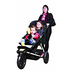 Mountain Buggy Plus One Buggy with Cocoon and Second Seat Black
