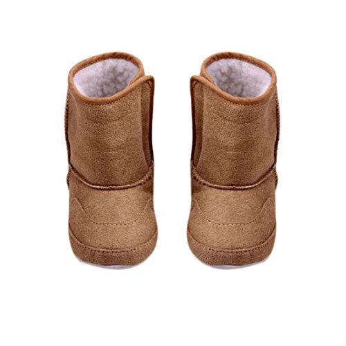 Amjimshop Vovotrade(TM) New Baby Boys Girls Shoes Toddler Winter Snow Warm Boots (12.5cm, Brown)