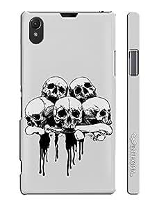Sony Xperia Z1 Skull 'N Bone designer mobile hard shell case by Enthopia