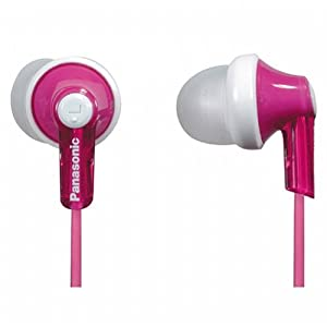 Panasonic RPHJE120P In-Ear Headphone, Pink