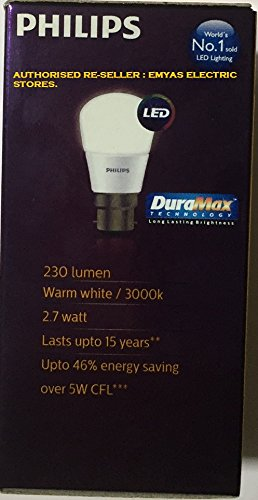 Ace-Saver-2.7W-230-L-B22-LED-Bulb-(Warm-White,-Pack-of-4)