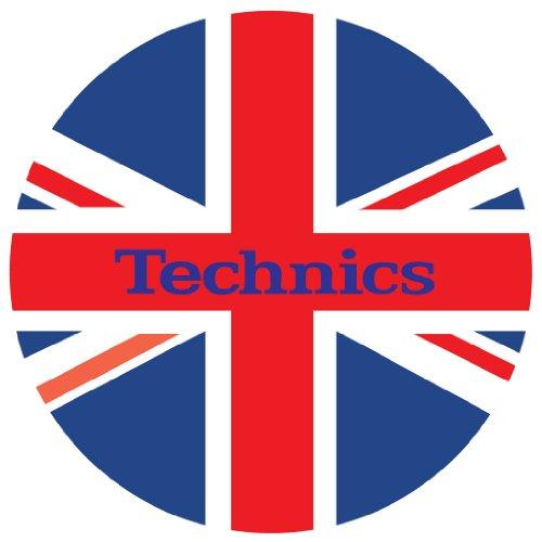 Technics-DMC-Tappetino-per-giradischi-1-paio-colore-rossobiancoblu