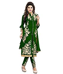 Sourabh Enterprises Women's Georgette Unstitched Dress Material (NE029_Green_Free Size)