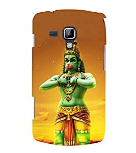 Bajarangbali 3D Hard Polycarbonate Designer Back Case Cover for Samsung Galaxy S Duos S7562