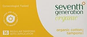 Seventh Generation Chlorine-Free Organic Tampon Regular -- 16 Tampons