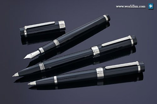 Cartier Pasha de Cartier Black Platinum Finish Rollerball Pen ST220003