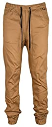 Kayden K Men\'s Slim Fit Harem Jogger Pants (36, Timber)