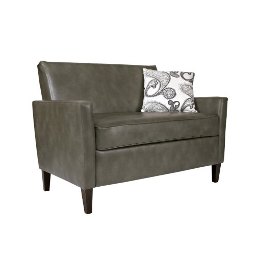 Shopping Angelo Home Sutton Loveseat In Renu Leather Gray Bark Shopping