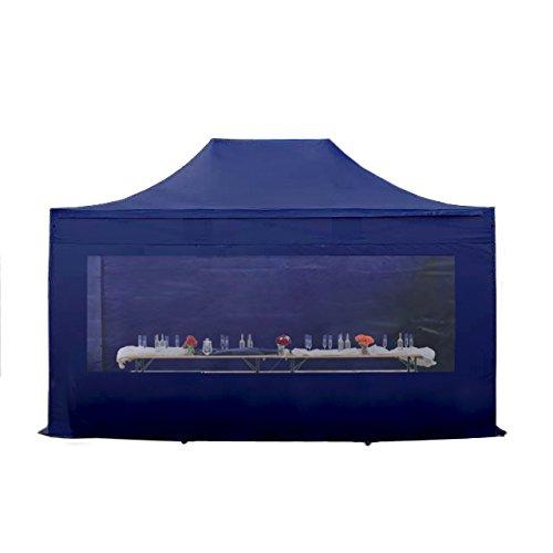 faltpavillon faltzelt pavillon klappzelt 3x4 5 m ca 400g m plane aluminiumgest nge zelt. Black Bedroom Furniture Sets. Home Design Ideas