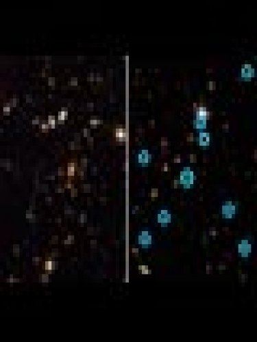 Images From Hubble'S Acs Tell A Tale Of Two Record-Breaking Galaxy Clusters