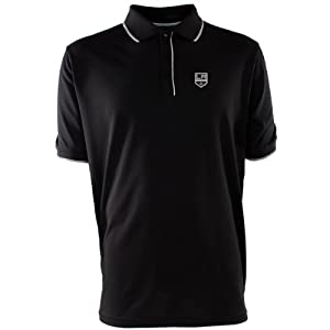 NHL Los Angeles Kings Men's Elite Xtra Lite Polo, Black/White, X-Large