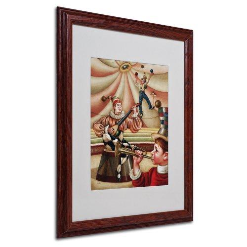 Trademark Fine Art Fiesta Allegro Artwork By Edgar Barrios, Wood Frame, 16 By 20-Inch front-576484