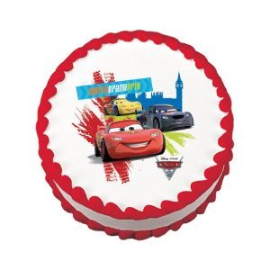Edible Cake Images Nj : Disney CARS Birthday Cake Decorations Cupcake Toppers - We ...