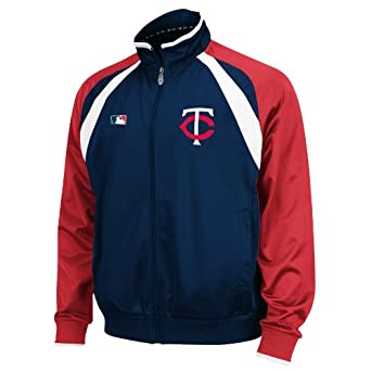 MLB Minnesota Twins Thermabase Long Sleeve Full Zip Fleece Track Jacket by Majestic