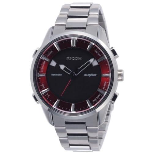 [リコー]RICOH 腕時計 シュルードリマインダー 電磁誘導充電式 10気圧防水 レッド 660007-01 メンズ