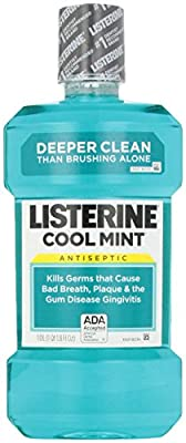 Listerine Antiseptic Adult Mouthwash, Cool Mint, 33.8 Fl Oz