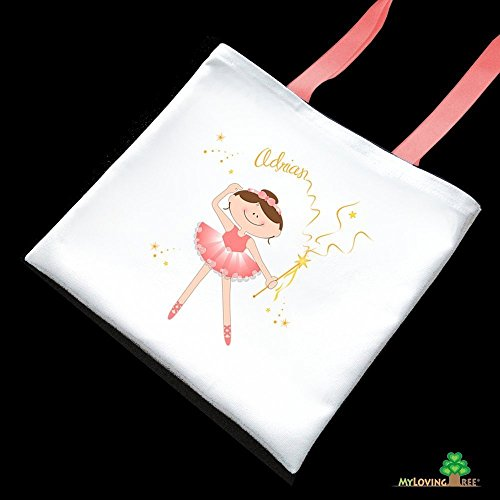 Ballerina birthday party dance recital personalized ballet girl party tote bags shoulder bags for little kids girls party favors little ballerina toddler dancer preschooler