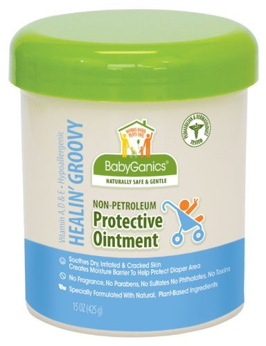 Babyganics Healin Groovy Non-Petroleum Protective Ointment, Tub, 15-Ounce Newborn, Kid, Child, Childern, Infant, Baby