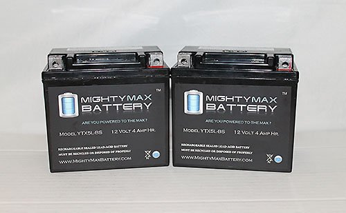 Ytx5L-Bs Replacement For Honda Ez90 Cob Motorcycle Battery - 2 Pack
