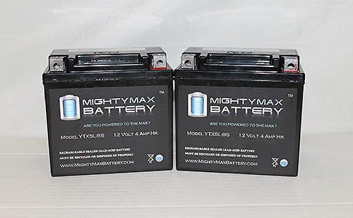 Ytx5L-Bs Replaces E-Ton Dxl90 Sierra Viper 70 Atv Battery - 2 Pack