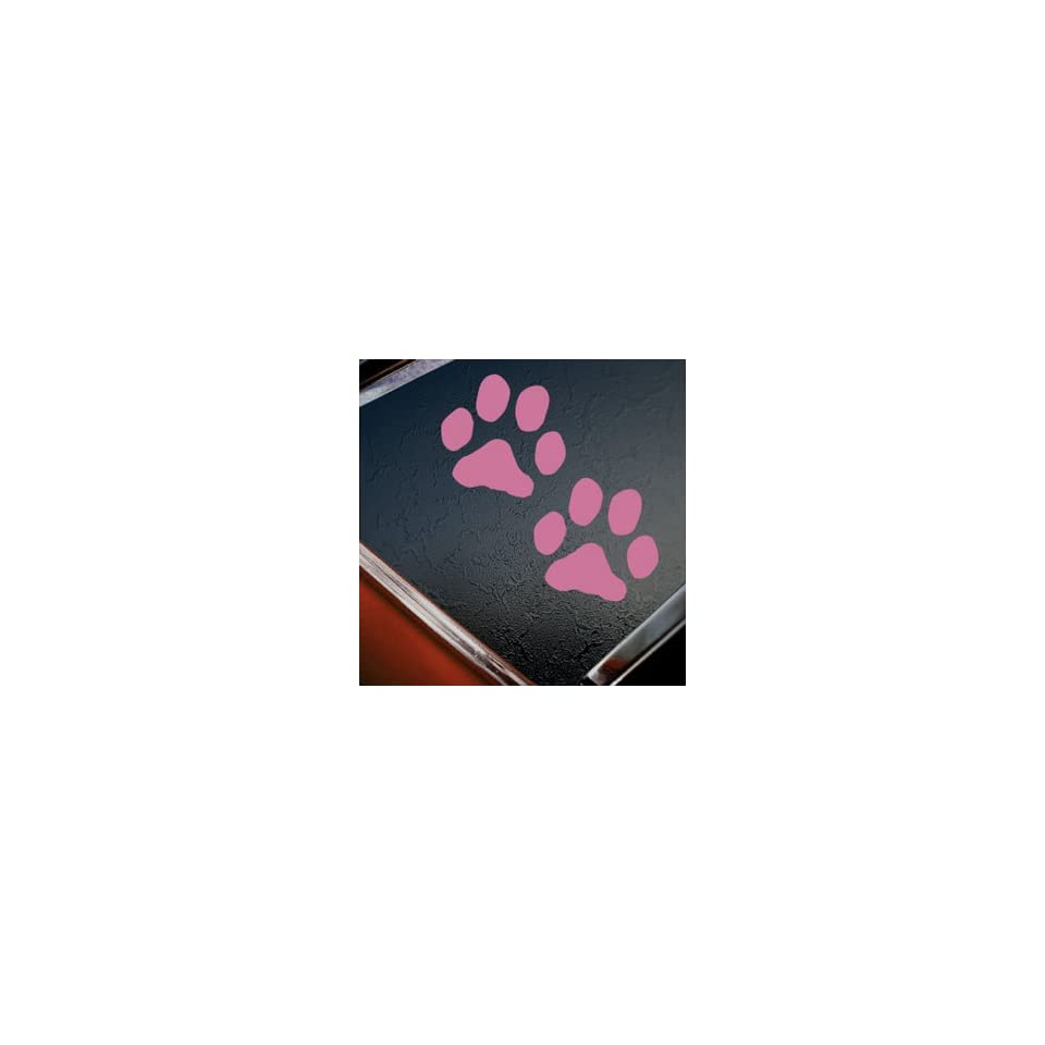 Dog Paw Prints Pink Decal Car Truck Bumper Window Pink Sticker