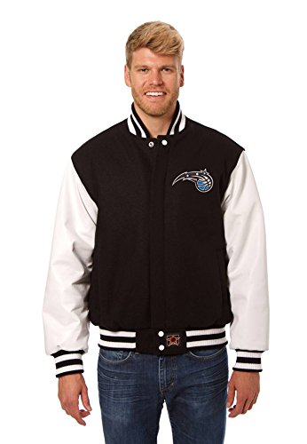 Orlando Magic Wool and Leather Varsity Jacket (XXXX-Large) (Amway Decal compare prices)