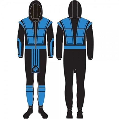 mortal-kombat-sub-zero-full-body-union-suit-costume-pajamas-limited-edition-medium