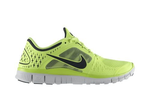 Nike Nike Men's NIKE FREE RUN+ 3 RUNNING SHOES 9.5 (Volt/Reflective Silver-Pro Platinum-Anthracite)