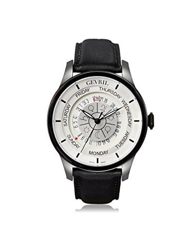 Gevril Men's 2005 Columbus Circle Black Leather Watch