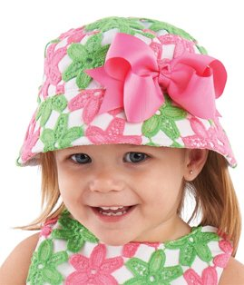 Mud Pie Daisy Crochet Flower Sun Hat (Toddler (2-4T))