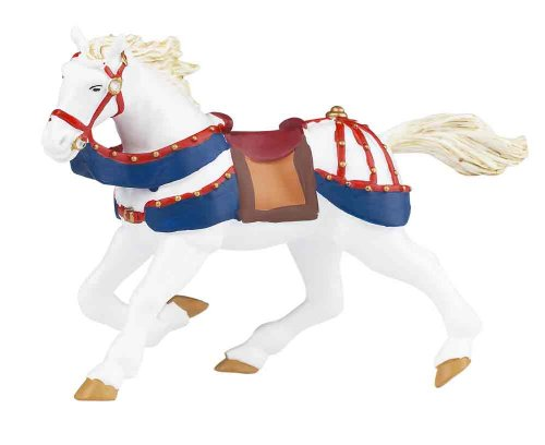 Galloping horse in Red and Blue