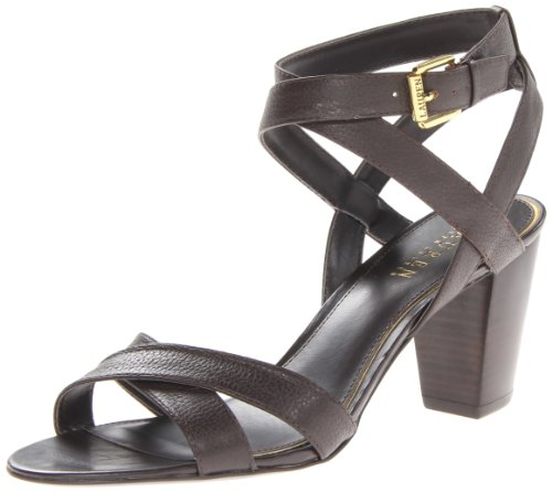 Lauren Ralph Lauren Women'S Luna Dress Sandal,Dark Brown,6.5 B Us