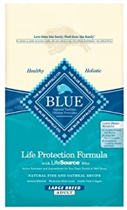 Blue Buffalo Large Breed Adult Dog Dry Food, Natural Fish and Oatmeal Recipe, 30-Pound Bag by Blue Buffalo