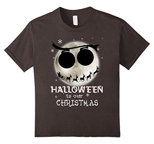[Kids Halloween Is Our Christmas T-shirt 4 Asphalt] (Boogie Man Nightmare Before Christmas Costumes)