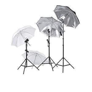 Square Perfect 4500 SP450 Professional Quality Photography Studio Lighting Umbrella Soft Light Kit
