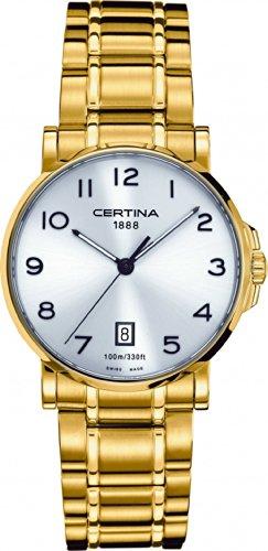 Certina Men's Watch XL Analogue Quartz Stainless Steel Coated C017,410,33,032,00