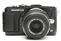 Olympus Pen E-PL5 & E-PL6 Camera Leather Decoration Sticker Crocodile type 8010 Black Made in Japan