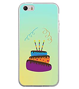 Happy Birthday Cake 2D Hard Polycarbonate Designer Back Case Cover for Apple iPhone 5