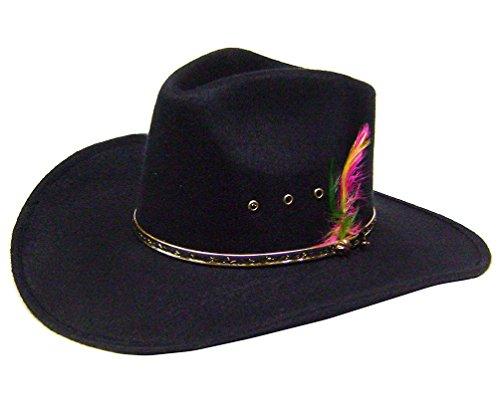 modestone-boys-akubra-cattleman-faux-felt-sombrero-vaquero-size-54-6-3-4-xs-s